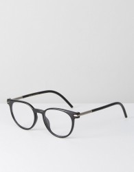 Marc Jacobs Round Clear Lens Glasses In Black - Black