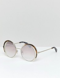 Marc Jacobs round sunglasses in gold tort - Gold