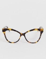 Marc Jacobs tortoiseshell cat eye clear lens glasses - Brown