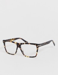 Marc Jacobs tortoiseshell square glasses - Brown