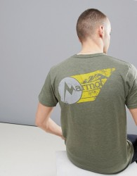 Marmot Marwing T-Shirt With Chest Logo in Olive Green - Green