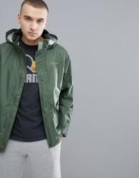 Marmot PreCip Jacket Waterproof With Attached Hood in Khaki - Green