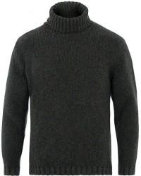 Massimo Alba Brent Wool/Alpaca Turtleneck Sweater Green Melange men L