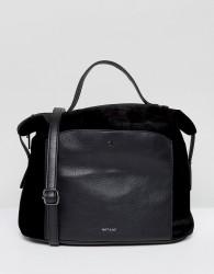 Matt & Nat Bava Velvet Tote Bag With Top Handle - Black