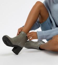 Matt & Nat Chunky Platform Boots - Grey