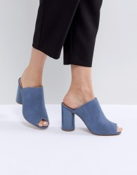 Matt & Nat Leone Block Heeled Mules - Blue