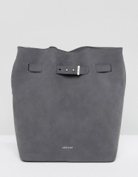 Matt & Nat Lexi Faux Suede Grey Bucket Bag - Grey