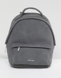 Matt & Nat Mini Munich Faux Suede Grey Backpack - Grey