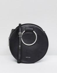 Matt & Nat Sina Ring Handle Bag With Cross Body Strap - Black