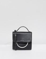 Matt & Nat Suri Mini Flap Over Cross Body Bag With Ring Detail - Black