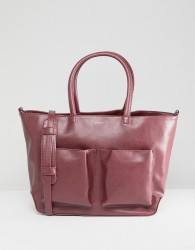Matt & Nat Tote Bag With Front Pockets - Pink