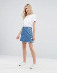 MAX&Co Denim Dea Skirt - Blue