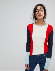 Max&Co Stripe Exaggerated Sleeve Jumper - Multi