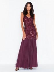 Maya All Over Sequin Godet Fishtail Cami Maxi Dress Maxikjoler