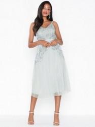 Maya Cami Embellished Midi Dress Pailletkjoler