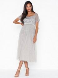 Maya Embellished Bardot Mini Dress Pailletkjoler