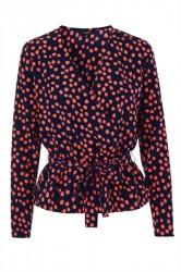 mbyM - Bluse - Avila Top - Spot Orange Print