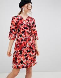 mByM Dark Floral Wrap Dress - Red