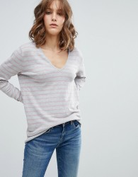 mByM Stripe V Neck Jumper - Multi
