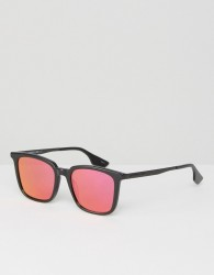 McQ Alexander McQueen Sunglasses in Black with Mirror Lens - Black