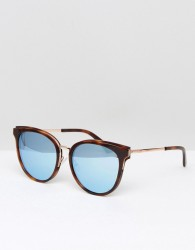 McQ By Alexander McQueen MQ0104SK Round Sunglasses In Brown 56mm - Black