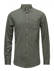 Melange Twill Shirt- Gots