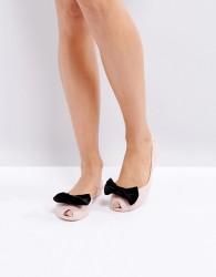 Melissa Bow Flat Shoes - Beige