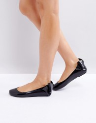 Melissa Space Love Gift Bow Flat Shoe - Black