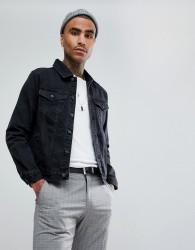 Mennace Denim Jacket In Black - Black