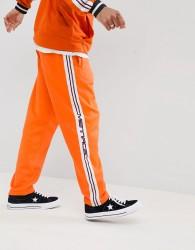 Mennace Jogger In Orange With Taping - Orange