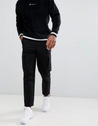 Mennace utility trousers in black - Black