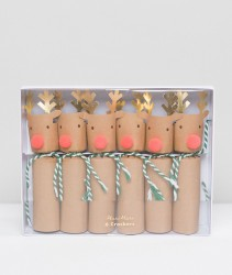 Meri Meri Reindeer Christmas Crackers 6pk - Multi