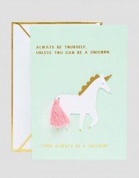 Meri Meri Unicorn Card - Multi
