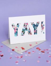 Meri Meri YAY Confetti Balloon Card - Multi