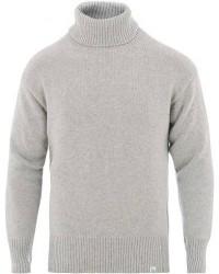 Merz b. Schwanen Classic Merino/Cashmere Turtleneck Pullover Grey men XL
