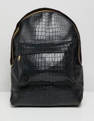 Mi-Pac backpack in matt croc - Black