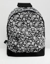 Mi-Pac Backpack With Bandana Print - Black