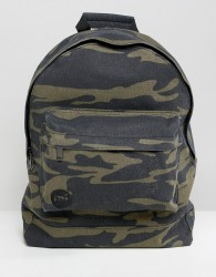 Mi-Pac canvas backpack in camo - Green