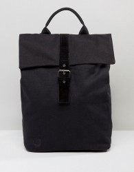 Mi-Pac Canvas Fold Top Backpack in Black - Black