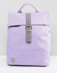 Mi-Pac Canvas Fold Top Backpack in Lilac - Purple