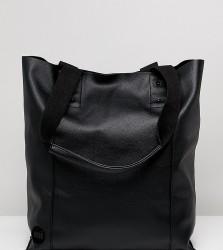 Mi Pac Tumbled Black Shopper Bag - Black