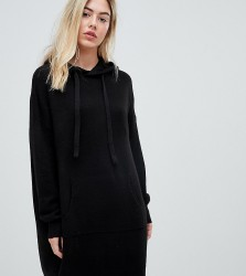 Micha Lounge relaxed hooded jumper dress - Black