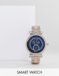 Michael Kors Access MKT5040 Sofie Bracelet Display Smart Watch In Silver/Rose Gold 42mm - Silver