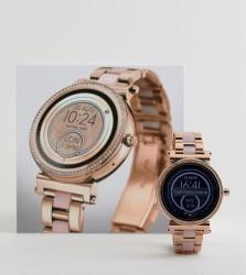 Michael Kors Access MKT5041 Sofie Bracelet Display Smart Watch In Rose Gold/Pink 42mm - Gold