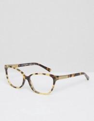 Michael Kors Cat Eye Frame Optical Clear Lens Glasses - Brown