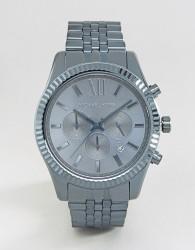 Michael Kors Lexington Chronograph Blue Watch In Stainless Steel MK8480 - Blue