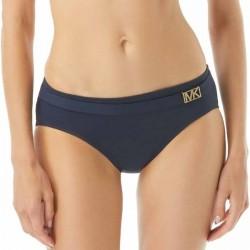 Michael Kors Logo Solids Belted Bikini Bottom - Navy-2 * Kampagne *