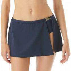 Michael Kors Logo Solids Skirt Bikini Bottom - Navy-2 * Kampagne *