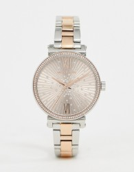 Michael Kors Mini Sofie bracelet watch in mixed metal 36mm - Silver