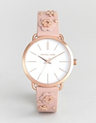 Michael Kors MK2738 Portia Flora Embellished Leather Watch - Pink